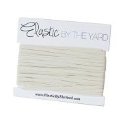 5 Yards of Light Ivory - 0.3cm Skinny Elastic - ElasticByTheYardTM