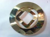 Designer Belt Buckle Plated 14 kt. Gold Polished 0.6m Inch Round Buc1
