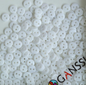 GANSSIA 9MM Candy Colours Buttons Colour White Pack of 500 Pcs