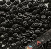 GANSSIA 9MM Candy Colours Buttons Colour Black Pack of 500 Pcs