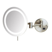 LED 8x Magnifying Wall Mount Makeup Mirror - Finish