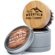 Rocky Mountain Beard Oil Brush - 100% Horsehair Brush for Beard Oils, Beard Balms, Beard Wax, Dry Beard Oils - Soft Horse Hair with Natural Wood Handle