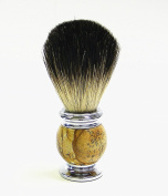 100% Super Fine Badger Shaving Brush with Elegant Genuine Stone Handle By Edward London & Co.