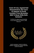 Cases at Law, Argued and Determined in the Court of Appeals of South Carolina, from November 1840 to [May 1842], Both Inclusive