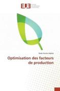Optimisation Des Facteurs de Production [FRE]