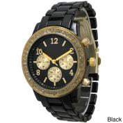 Olivia Pratt Women's 11184 Rhinestone Bezel Watch