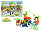 Little Treasures 36Pc Building Brick Zoo creative building blocks Duplo Compatible includes lion zebra penguin - for children 3+