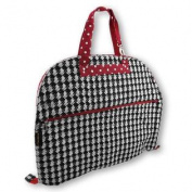 Houndstooth Travel Garment Bag With Red Trim