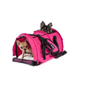 SturdiBag Large Pet Carrier,Flexible Height Pet Travel Carrier Tote Crate, Colour Hott Pink,Size Large 46cm L x 30cm H x 30cm W