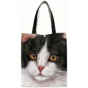 Fiddler's Elbow Black & White Cat Tote