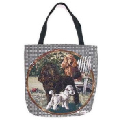 (Price/EACH)Simply Home Poodle Tote Bag