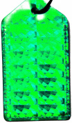 En Route Hologram Luggage Tag Green