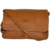 NCAA Florida Gators Tan Leather Laptop Messenger Bag