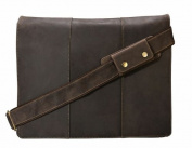 Visconti 16019 Mucho Xl Leather Messenger Bag (Holds 17 Laptop) [Brown]