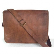Leather Messenger Bag Handmade 41cm Full Flap Cross Body/ Laptop Bag/ Macbook Bag/ Retro Leather Satchel/ Shoulder Ba