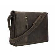 Visconti 13.3 Laptop Case Messenger Bag - Leather 16072 [Brown]
