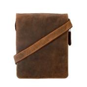 Visconti Big Leather Organiser Messenger Bag 46760cm Distressed Leather