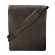 Visconti Big Leather Organiser Messenger Bag 46760cm Distressed Leather