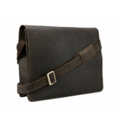 Visconti 18548 Leather Oiled Distressed Messenger Bag