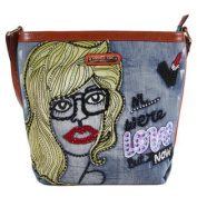 Nicole Lee Jodie Blonde Print Messenger Bag
