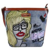 Nicole Lee Jodie Blonde Print Messenger Bag