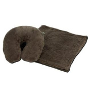 Snoozer Velura Travel Pillow And Throw