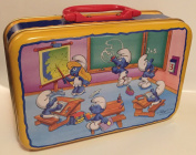 1996 Peyo The Smurfs at School 23cm Tin Lunch Box