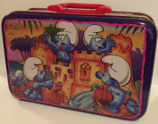 1996 Peyo The Smurfs Making Sandcastles 23cm Tin Lunch Box