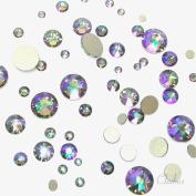 . CRYSTAL PARADISE SHINE (001 PARSH) 144 pcs 2058/2088 Crystal Flatbacks rhinestones nail art mixed with Sizes ss5, ss7, ss9, ss12, ss16, ss20, ss30