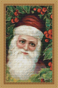Vintage Christmas Santa Cross Stitch Pattern