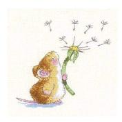 [Cute Mice] DIY Cross-Stitch 11CT Embroidery Kits Kids Room Decors