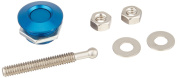 Quik-Latch Products QL-25-BU1 2.5cm Diameter Blue Anodized Aluminium Mini Quick Release Latch
