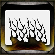 Tribal Flames 7 AirSick Airbrush Stencil Template