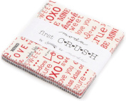 First Crush Charm Pack By Sweetwater; 110cm - 13cm Precut Fabric Quilt Squares