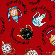 May Engelbreit Cups of Kindness Cotton Fabric - 1 Yard