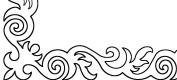Quilting Creations Fleur de Lis Swirl Border Stencil