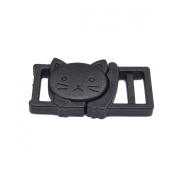 25pcs 1cm Safty Breakaway Buckles for Cat Collar Black