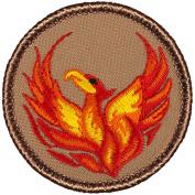 Phoenix Patrol Patch (Red) - 5.1cm Round