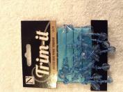 Nicole Trim-it 4172 Faceted Bead Finge Ribbon Turquoise 0.5m