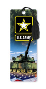 Dimension 9 3D Lenticular Bookmark with Tassel, U.S. Army Featuring A1M1 Abrams Tank and American Flag