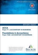 ACCA Approved - F1 Accountant in Business (FIA