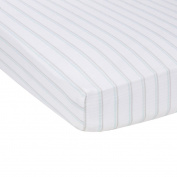 Miracle Blanket MiracleWare Muslin Crib Sheet, Blue and Grey Stripes