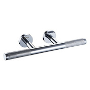 Sanliv Heavy Brass Shower Foot Rest in Textured Chrome Finish for Hotel Bathrooms