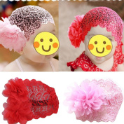 Toddlers Baby Girls Crochet Flower Princess Headband Lace Hairdress