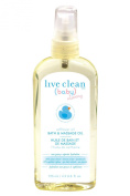 Live Clean Baby & Mommy Organic Safflower Oil Bath and Massage Oil 120ml