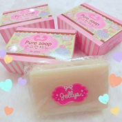 7 Bar Jellys Pure Soap Bar White Aura Within 3 Minutes Skin Body Whitening 100g