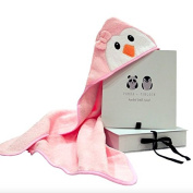 Hooded Bath Towel for Babies and Kids by Panda and Penguin; 100% Terry Cotton, Warm, Absorbent and Cute. + Bonus E-Book