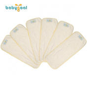 Babygoal Baby Cloth 3 Layers of Bamboo Viscose Nappy Nappy Liners Inserts 6pcs 6xf