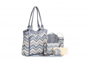 SoHo Collection, Louvre 9 pieces Nappy Tote Bag set