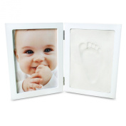 AZBABY Handprint Frame Ornament Kit, Takes Handprint or Footprint, Unique Gift Idea and Keepsake, White